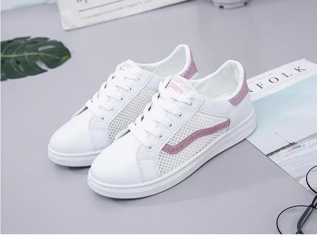 separation shoes 4e05f 5a76e Women breathable net shoes small white tie plate shoes superstar mujer  superstar air force 1 shoes women zapatillas mujer depor