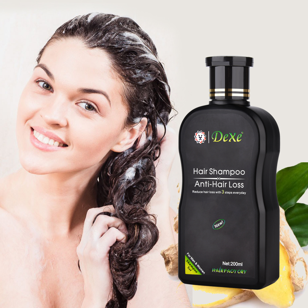 Anti-hair Loss Shampoo Professional Chinese Herbal Growth Hair Treatment Hair Prevent Thick Hair Care Product for Adults 200ml 200ml dexe hair shampoo set anti hair loss chinese herbal hair growth tonic thickener hair product for repair treatment unsex