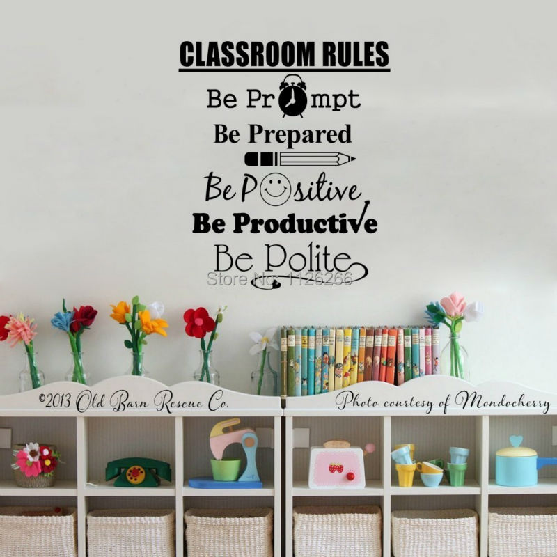 student quotes wall decals classroom rules art calligraphy vinyl