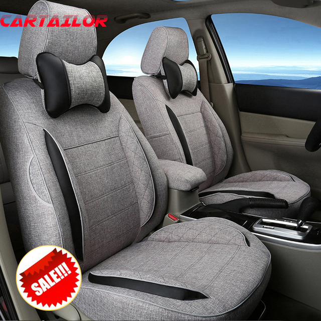 CARTAILOR Linen Fabric Car Seat Cover For Toyota Sienna Styling Interior Accessories Cute