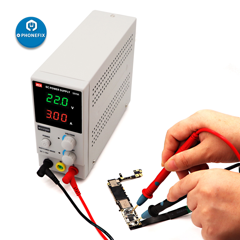 DC Power Supply 110/220V <font><b>MCH</b></font>-<font><b>K305D</b></font> MCK-K303D SMPS Single Channel Power Supply DC 0-30V 0-3/5A For Mobile Phone Laptop Repair image
