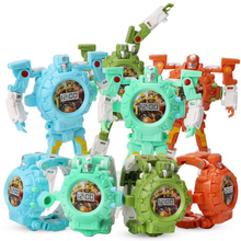 Deformation Robot Action Trasformation Wristwatch Toy Projector robot toy Kids Robot Electr