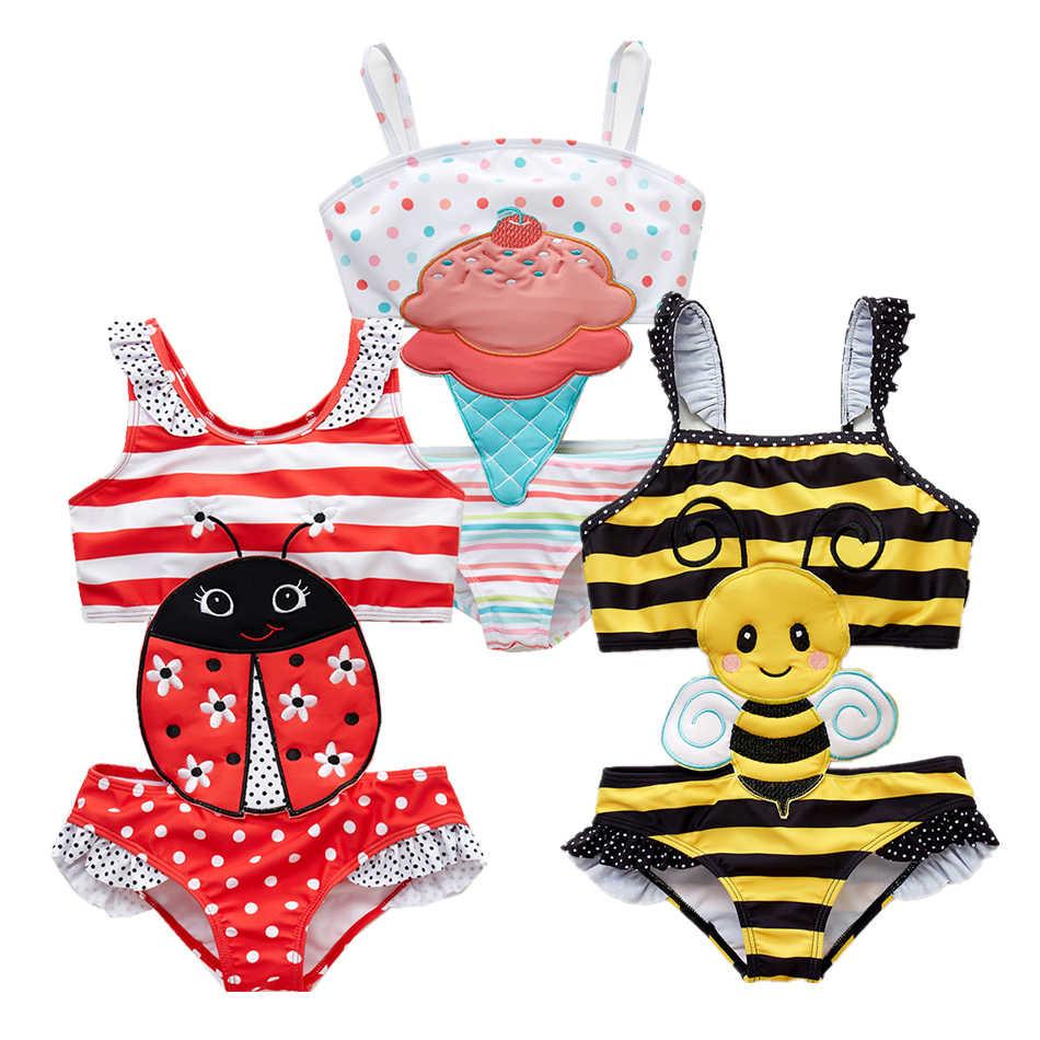 2019 Kavkas дети для маленьких девочек одна деталь мультфильм Животные купальник для малышей, купальник ванный комплект купальники бикини