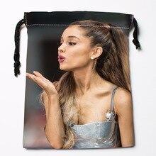 Fl-Q56 New Ariana Grande &1 Custom Logo Printed  receive bag  Bag Compression Type drawstring bags size 18X22cm 711-#F56