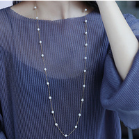 2017 Spring And Summer Sterling Silver Necklace Perfect Natural Pearl Necklace 18K Gold Necklace For Women