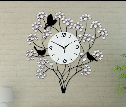 Online Shop Wrought Iron Set Auger Tree Living Room Wall Clock/ Bedroom  Mute Wall Clock/ Modern And Fashionable Adornment Bracket Clock |  Aliexpress Mobile