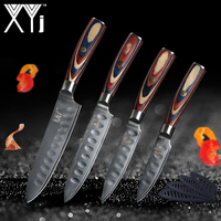 Damascus Kitchen Knives XYj Chef's Knife Japanese Kitchen Knife Damascus VG10 67 Layer Cooking Knives Ultra Sharp Wood Handle