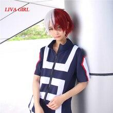 Disfraz de Cosplay de My Hero Academia, Boku no Hero Bakugou Katsuki/Iida Tenya/Shouto Todoroki, ropa deportiva, Tops + Pantalones