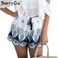 BerryGo Bordados shorts de cintura alta mulheres Casuais praia borla franja de algodão drawstring shorts Soltos verão shorts 2017