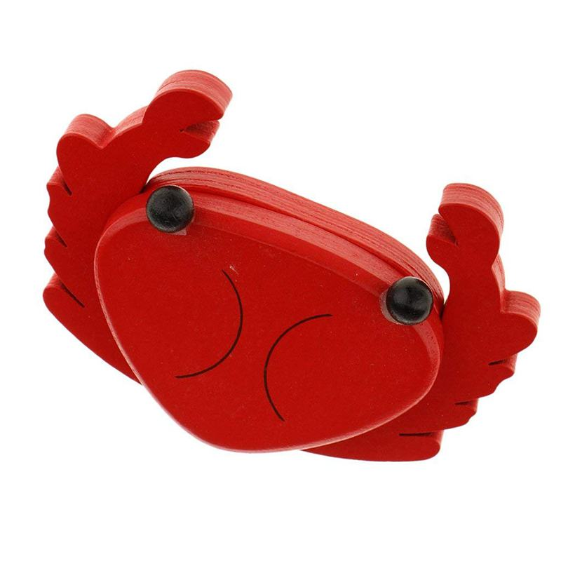 Magnet Cut Toy Magnetic Wooden Food Assemble Toys Educational Child Gift (Various) - Crab