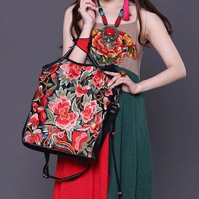En Sacs Pour Pourpre Femmes Messenger Rétro Femme Xiyuan rouge Sac Style Broderie Cuir Mode De Bandoulière Marque Chinois À Les Dames qXwFfPBEx
