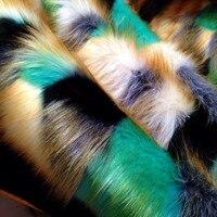 High grade jacquard fox fur, 3 4cm long plush fabric, DIY imitation fur fabric, 160cm * 50cm plush fabric 6 options faux leather
