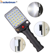 Magnetic Flashlight USB Rechargeable Work Light with Hanging Hook 28 LEDs Torch Working Lamp Camping Light for Repairing Camping(China)