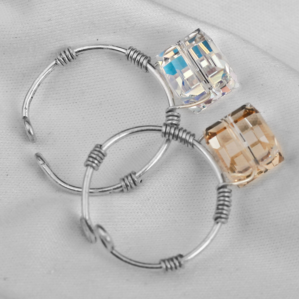 original design adjustable size romantic DIY hand made wire jewelry ...