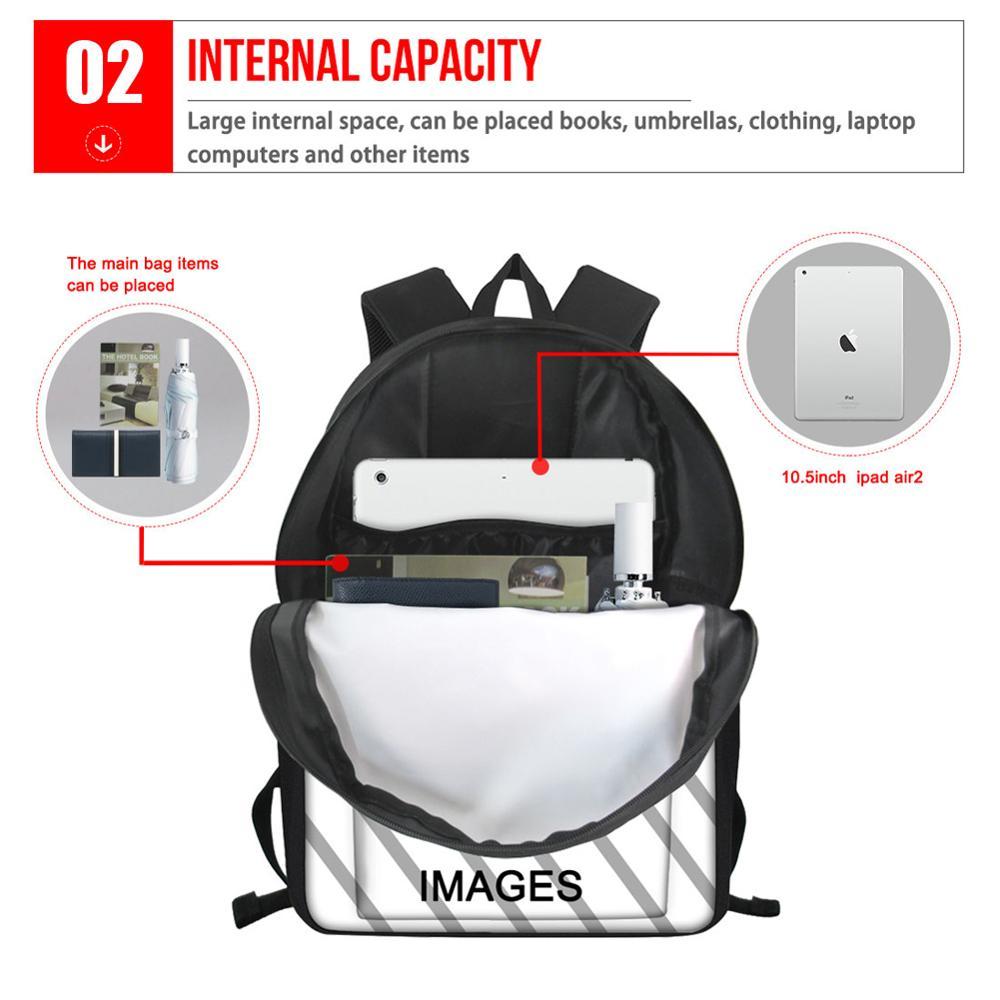 Image 5 - FORUDESIGNS Raccoon Junior High School Backpacks For Girls  Primary Kids Bags Large Capacity School Bags For Children MochilaSchool  Bags