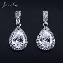 Luxury Austria Crystal Earrings WaterDrop Stud Earrings for Women Gorgeous Party Wedding Earring Fashion Jewelry Female Gifts