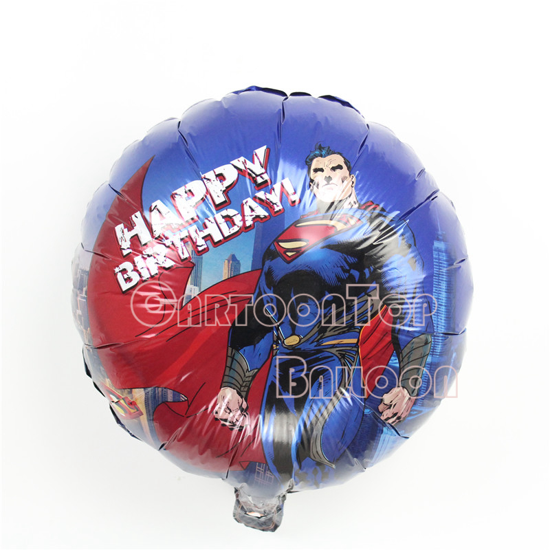 10pcs/lot 18inch Superman birthday balloons for children party ballons hero heli