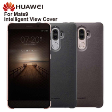 מקורי Huawei תצוגה חכמה כיסוי עור הגנת כיסוי טלפון מקרה למקרה 9 Mate9 Flip מקרה דיור ישן פונקצית מקרה