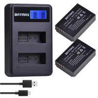 2 pièces 1800 mAh LP-E12 LPE12 LP E12 batterie de caméra AKKU + LCD chargeur USB pour Canon M 100D Kiss X7 rebelle SL1 EOS M10 EOS M50 DSLR