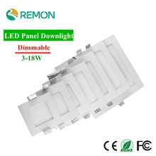Dimmable LED Panel Light 3w 4w 6w 9w 12w 15w 18w LED Downlight Square LED Recessed Celing Lamp Warm Cold White Spot LED
