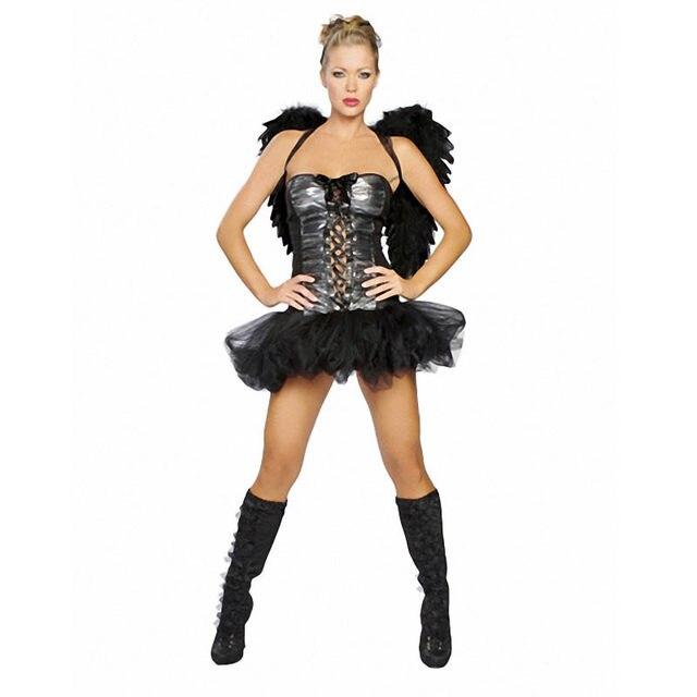 wholesale halloween apparel women sensual mystique dark angel costume