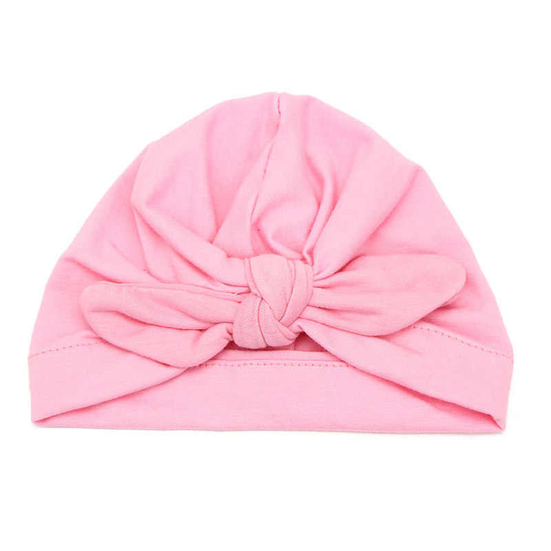 785e66c0d85 ... Cute Baby Hat Winter Autumn Cotton Soft Girl Hat Knot India Style  Infant Caps Turban Newborn