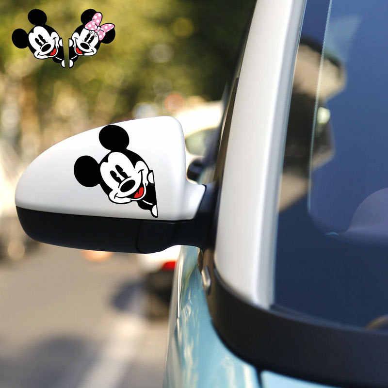 Aliauto Микки Мышь Микки и Минни автомобиля raerview зеркало Стикеры и наклейка для Volkswagen Мужские поло Гольф Skoda Opel Ford Focus 2, 3