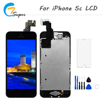 1PCS AAA Pantalla LCD Full Assembly For IPhone 5c Touch Screen Digitizer Display Free Shipping Black