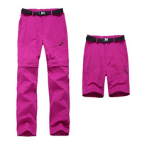 LANBAOSI Convertible Hiking Pant for Women Zip Off Leg Pants Sun Protection Qucik Dry Anti UV Trekking Outdoor Sports Trousers