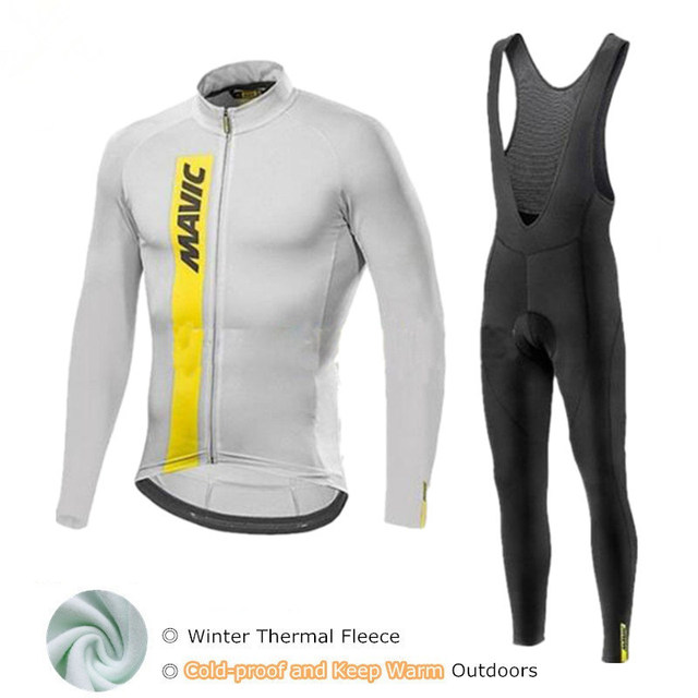 Korea Exclusive Of Men s Cycling Jersey Mavic Winter Pro Team High Quality  Cycling Set Bike Wear Cold-proof Cycling Clothing 05fccf153
