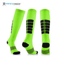 Fancyteck 3Pairs Antifatigue Unisex Compression Socks Medical Varicose Veins Leg Relief Pain Knee High Stockings