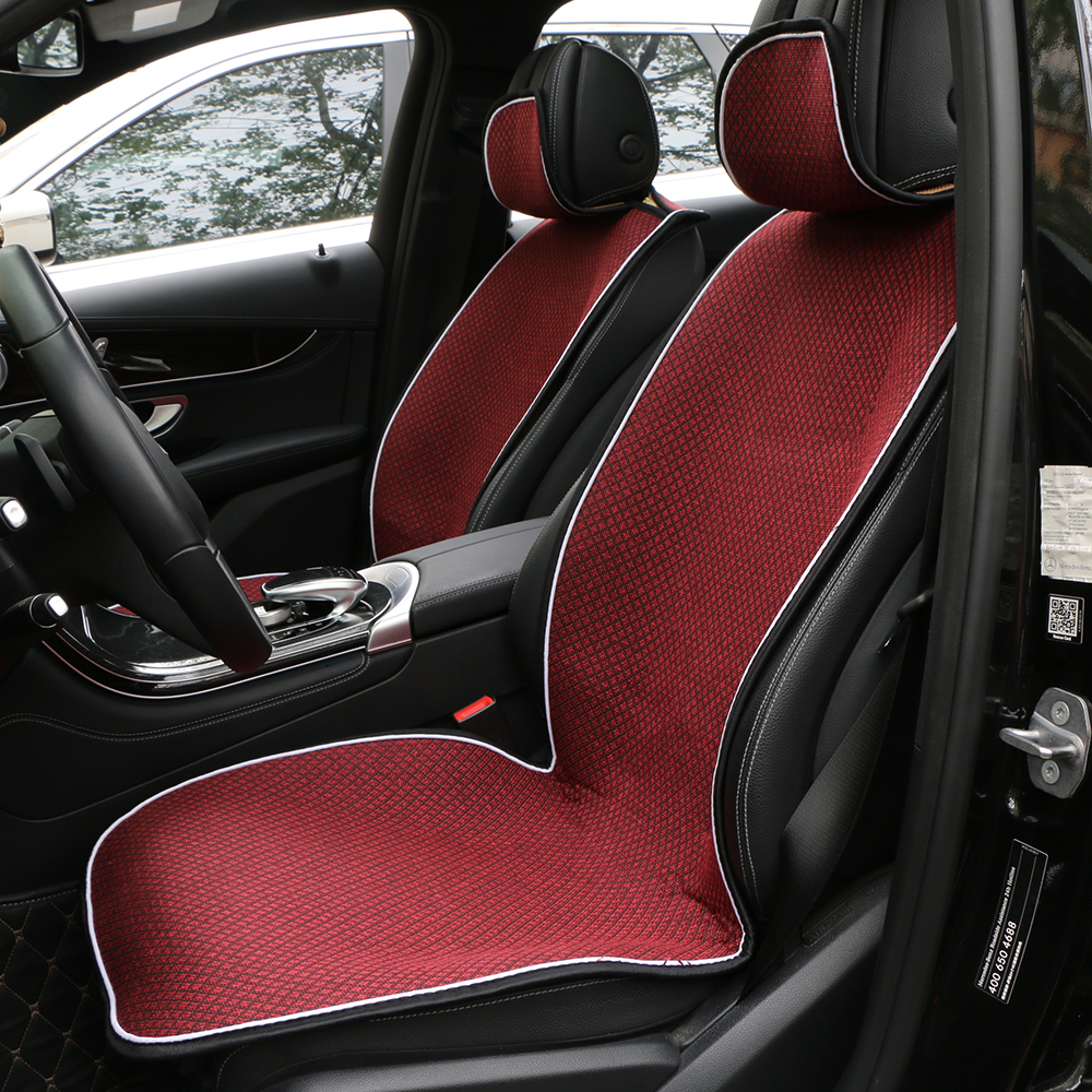 O SHI CAR seat cover protection automobile interior/Sales 2 front car seat cushion or 1 back seat mat suit Most car suv truck single car seat cover cushion ice silk car accessories car styling seat cushion car mat truck protection pad for bmw audi toyota