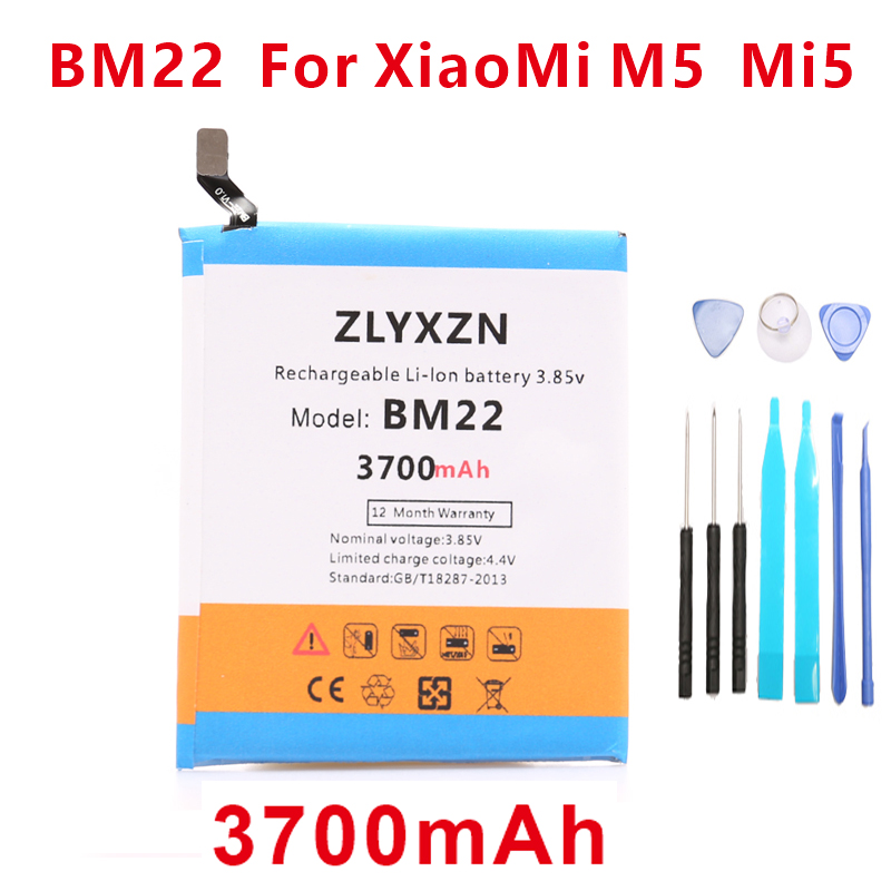 3700mah 100% New  BM22 Mobile Phone Batteries For Xiaomi 5 M5 Mi5 MI 5 Battery +tools