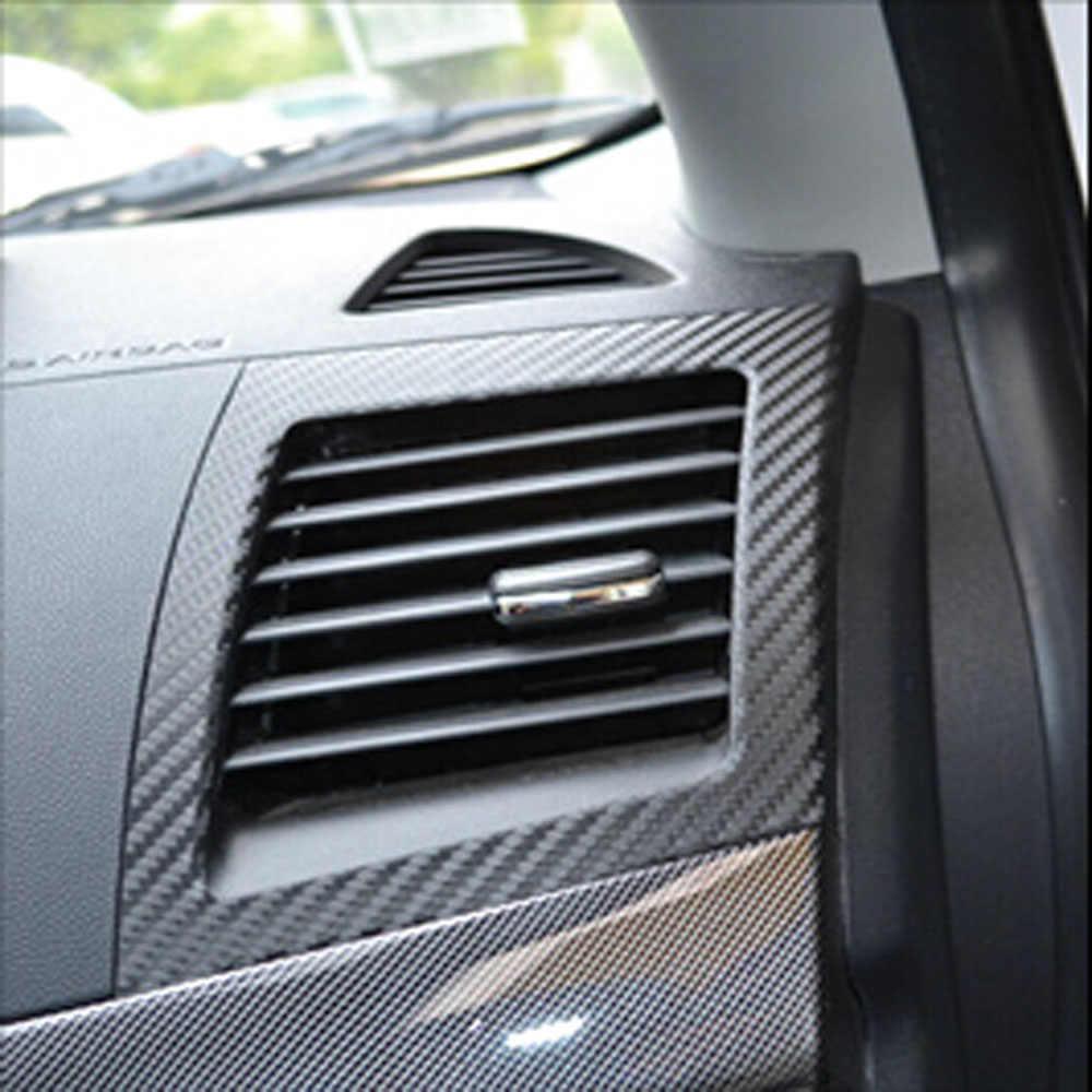 سيارة تكييف الهواء المخرج ملصق ألياف الكربون ل ميتسوبيشي لانسر EX 2010 2011 2012 1 زوج ملصقات السيارات اكسسوارات السيارات