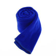 Dark Blue 30x70cm Microfiber Absorbent Car Home Dry Polishing Cloth Cleaning Towel Kitchen Washing Clean Hand Towels
