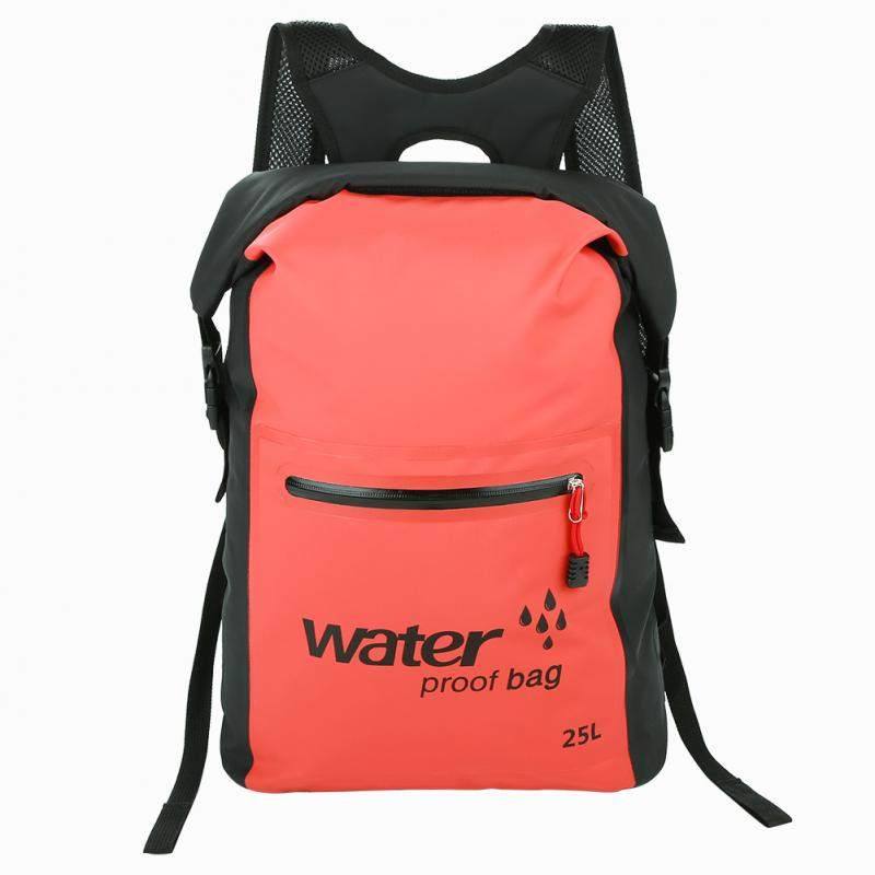 5 Color 25L Outdoor Portable Folding Waterproof Dry Bags Polyester Backpack Canoe Kayak Rafting Camping Hiking Storage Bags