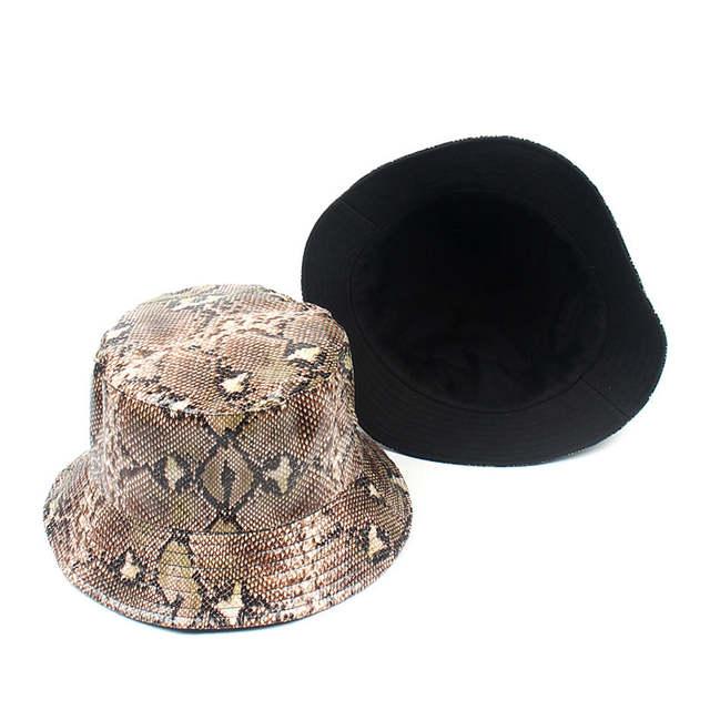 95fd985ad0 Summer Hat Women Mens Panama Bucket Hat Snake Print Design Sunshade Fishing  Fisherman Bob Hat Chapeu Femmes Hip Hop W90-in Bucket Hats from Apparel ...