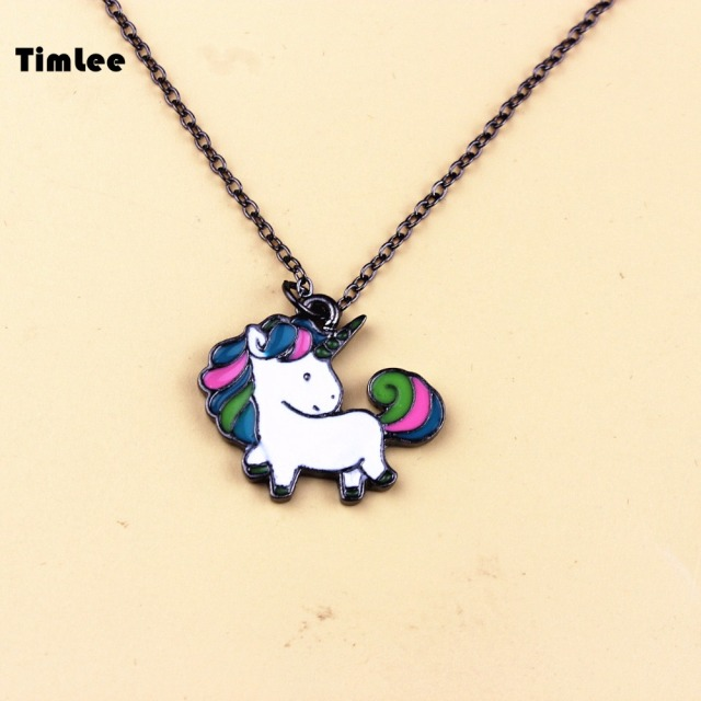 Timlee N056 Free shipping Cartoon Cute Rainbow Horse Unicorn Design