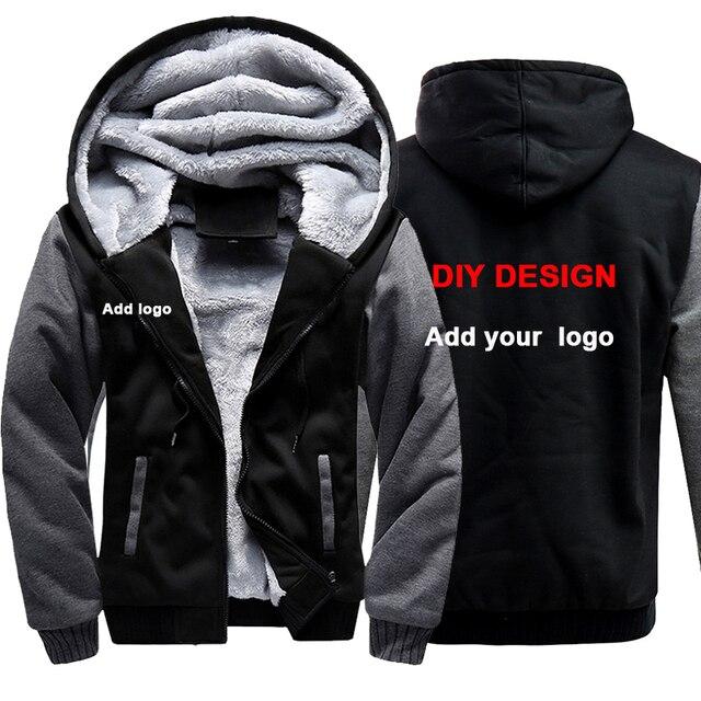 Us 21 78 49 Off Customized Logo Men Hoodies Sweatshirts Personalized Printed Design Diy Mens Custom Jackets Us Size Coats Drop Shipping In Hoodies