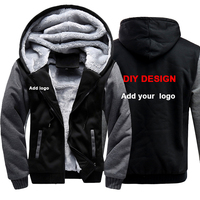 Customized LOGO Men Hoodies Sweatshirts Personalized Printed Design DIY Mens Custom Jackets US Size Coats Drop shipping