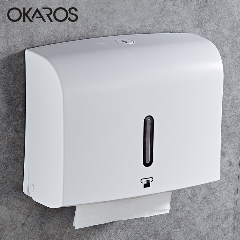OKAROS Toilet Paper Roll Holder Wall Mounted Bathroom Storage Basket PlasticToilet Tissue Paper Box Bathroom Accessories wholesale and retail luxury polished golden bathroom toilet paper holder tissue box wall mounted dual paper boxes