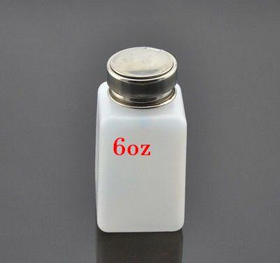 6oz White Plastic Soldering Bottle With Metal Pump Cap Alcohol/Solder Flux Liquid Press Pumping Empty Dispenser Cleaner Bottle