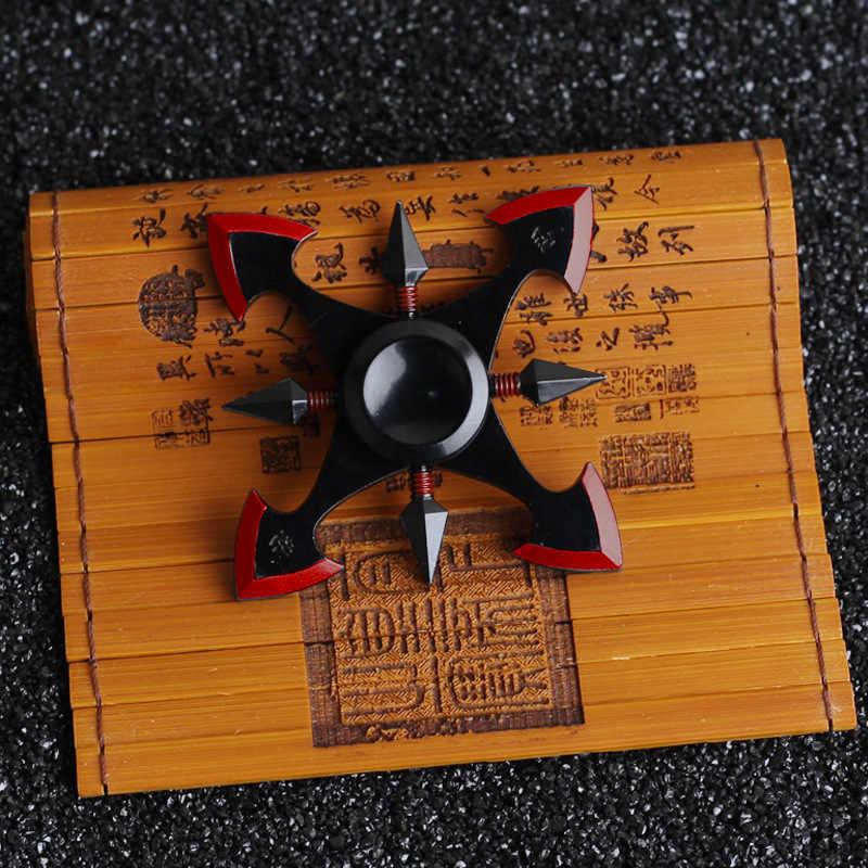 Ниндзя дартс Спиннер игрушка-Непоседа Металл EDC Спиннер Наруто Металл аутизм и СДВГ увеличивающие концентрацию держать руки металлический фиджет-Спиннер
