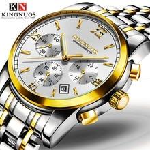 цена 2019Steel shell steel with waterproof men's watch three eyes six needle men's business non-mechanical watches онлайн в 2017 году