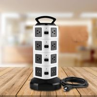 Power Strip With USB Surge Protector Vertical Charging Row Socket 14 Outlet 4 USB Port