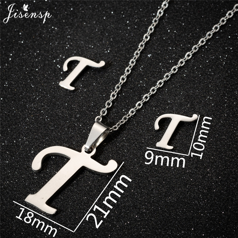 Jisensp Personalized A-Z Letter Alphabet Pendant Necklace Gold Chain Initial Necklaces Charms for Women Jewelry Dropshipping 40