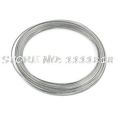 Hoisting Lifting 7x7 1mm Dia Stainless Steel Flexible Wire Rope 82Ft все цены