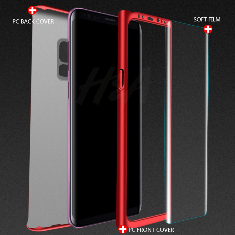 Image 3 - H&A 360 Degree Full Cover Phone Case For Samsung Galaxy S9 S8 Plus S7 S6 Edge Screen Protector Film Phone Cover Note 9 8 S8 Case-in Fitted Cases from Cellphones & Telecommunications