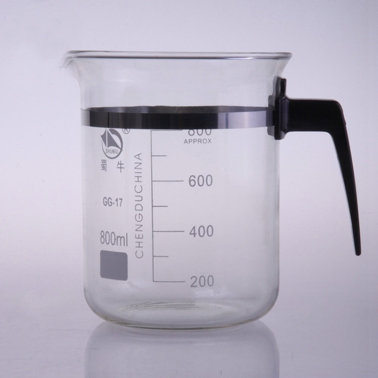 1PC 500ml/800ml/1000ml Glass beaker With plastic handle Lab Supplies lab glass measuring beakers 3000ml glass beaker laboratory measuring beakers 1pc lot