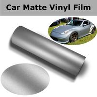 Длина: 18 м серебряная матовая обертка, автомобильная виниловая пленка, декоративная Автомобильная Защитная краска для автомобиля, самоклею